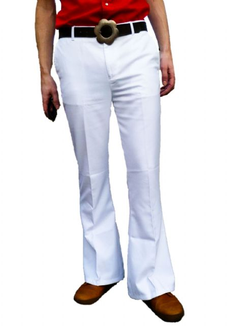 Classic High Rise - Mens Bell Bottoms Flares - White